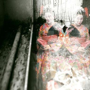 Double exposure of twins