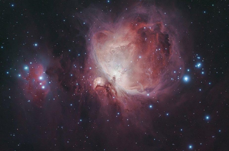 M42 The Orion Nebula with M43 De Mairan's Nebula and Sh2-279 The Running Man Nebula.  Wi...
