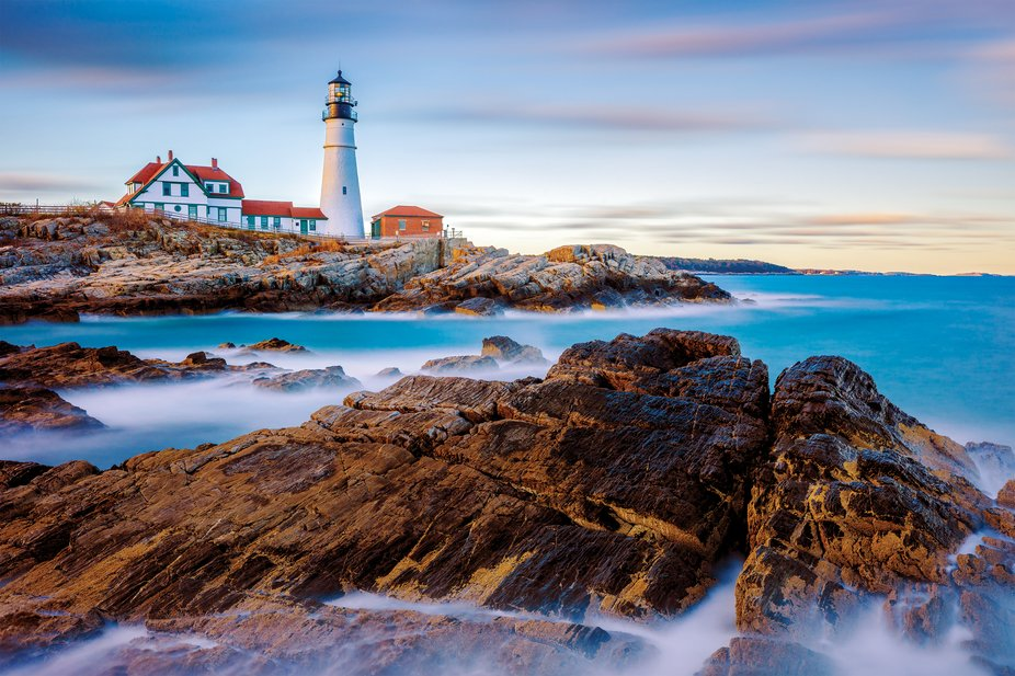 Portland Head Light is a historic lighthouse in Cape Elizabeth, Maine. The light station sits on ...