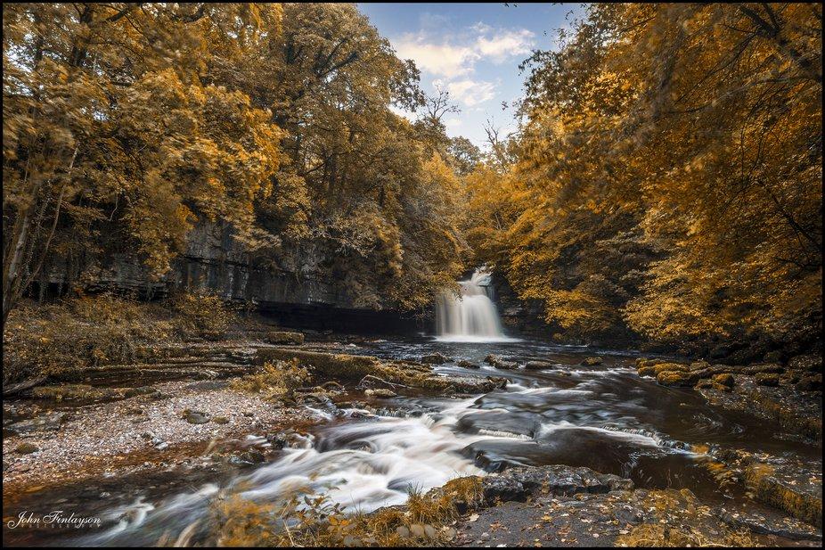 West Burton Falls in Autumn