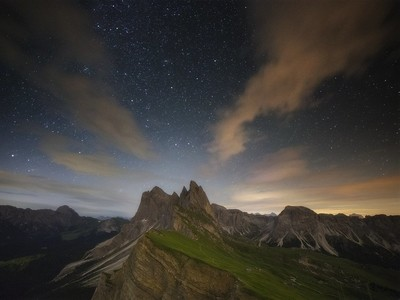 A Starry Night at the Mountains