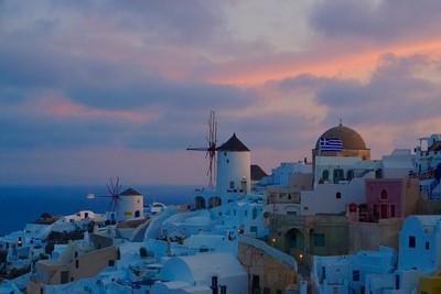Blue Hour Sunrise, Santorini, Oia, Greece