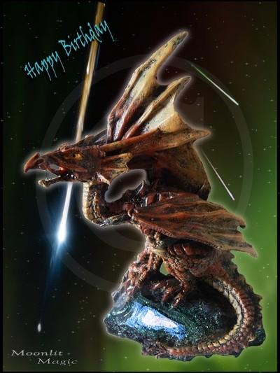 Birthday E-Card Dragon