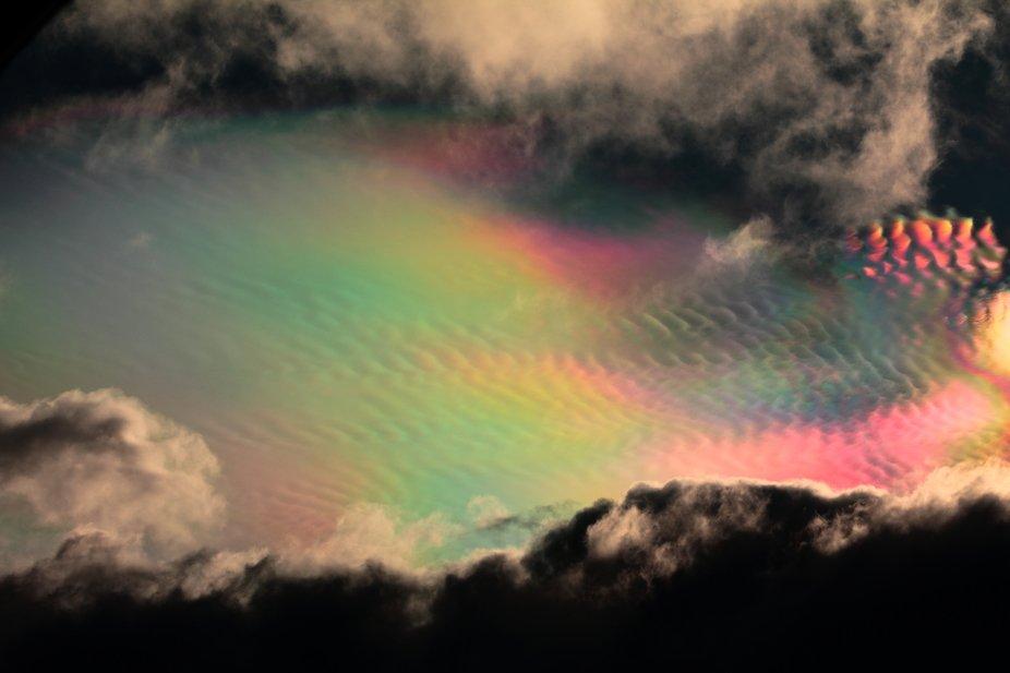 el cielo de arco iris