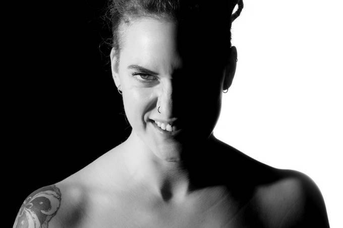 """Split portrait""  Studio shoot with Chiara (@kikka_thehurricane)."