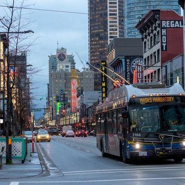 The Granville Strip in Vancouver, BC Canada