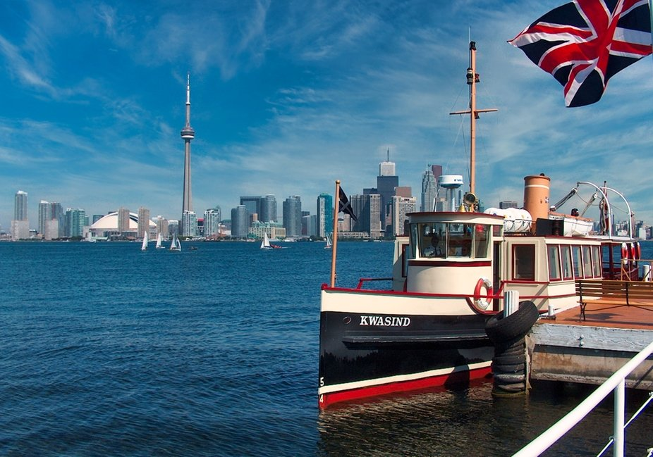 """The """"Kwasind"""" is one of the ferries of the Royal Canadian Yacht Club that trans..."""