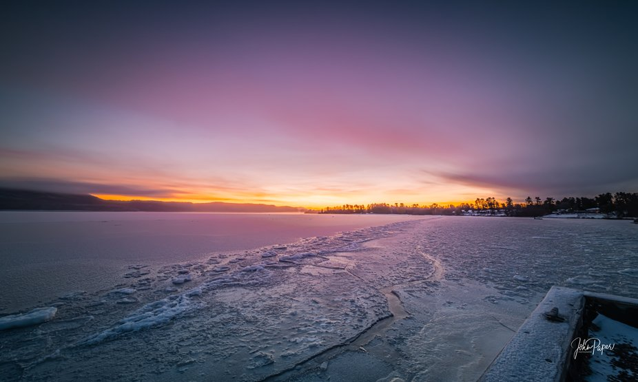 A bitterly cold morning today, -21 degrees C but an awesome sunrise and I was delighted with th...