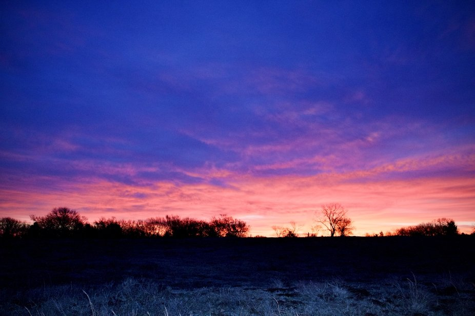 Sunrise as seen in Atwood Oklahoma