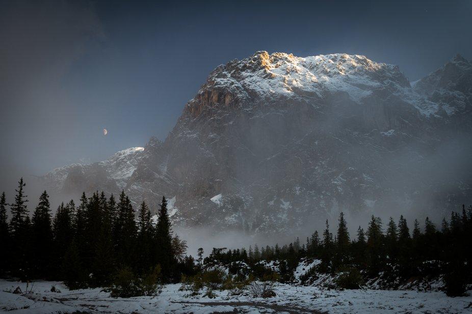 the last light in Berchtesgaden