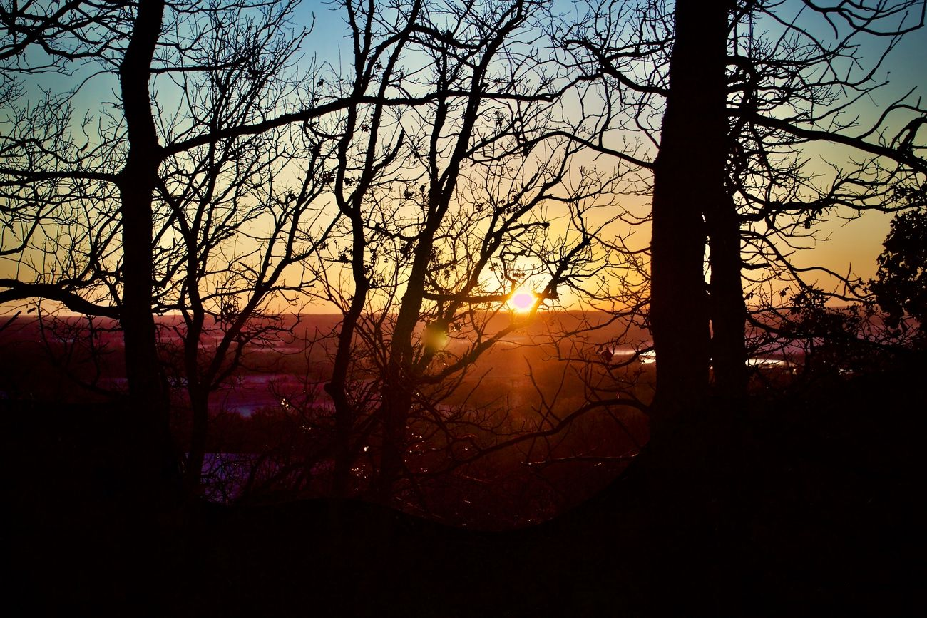 A December Sunrise in Southeast Oklahoma near Atwood overlooking the South Canadian River.