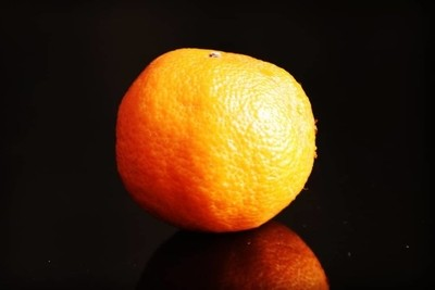 #oranges #alone #black #blackandorange #reflection #glass