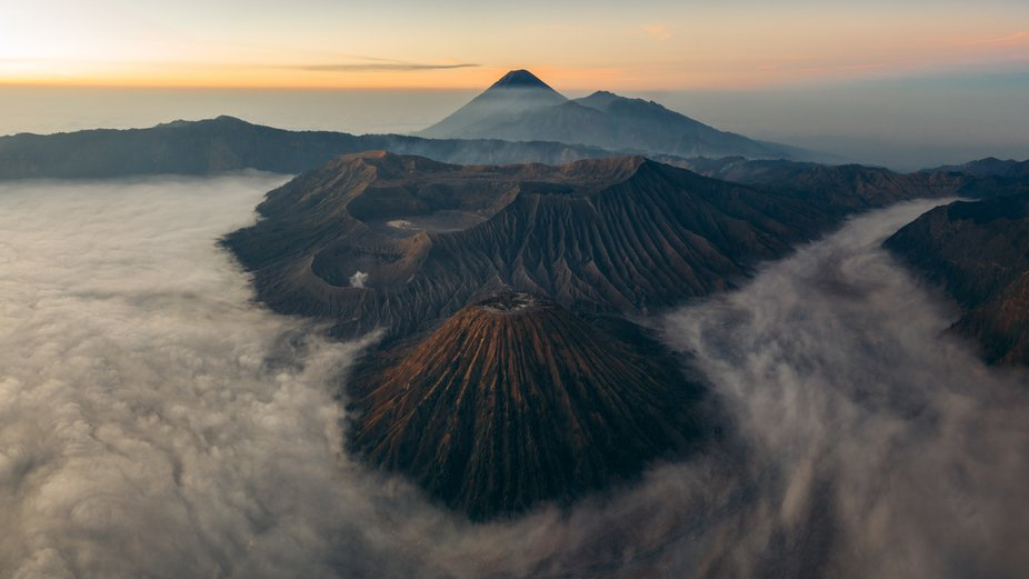 Sunrise at Mt. Bromo is always spectacular, especially when you get a cloud inversion over the su...