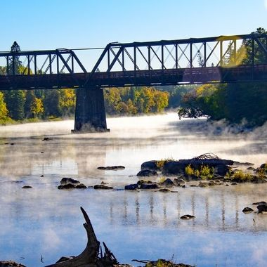 Early fall morning on the Bigfork River