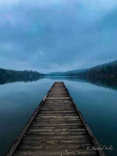 Moody blues on the lake