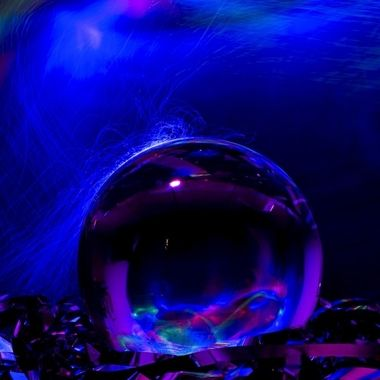 light painting with crystal ball.