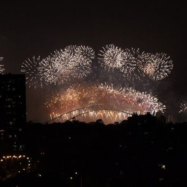 The NYE sydney fireworks that we had to watch from home due to COVID restrictions.