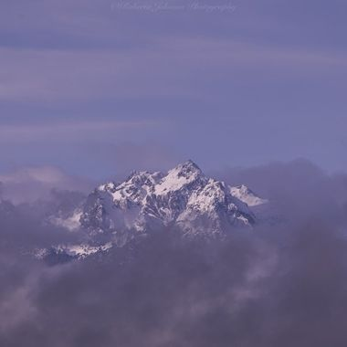 The Olympic mountains, Mt. Constance a mist the clouds. Such a delightful sight to my eyes! Hood Canal, Washington, USA