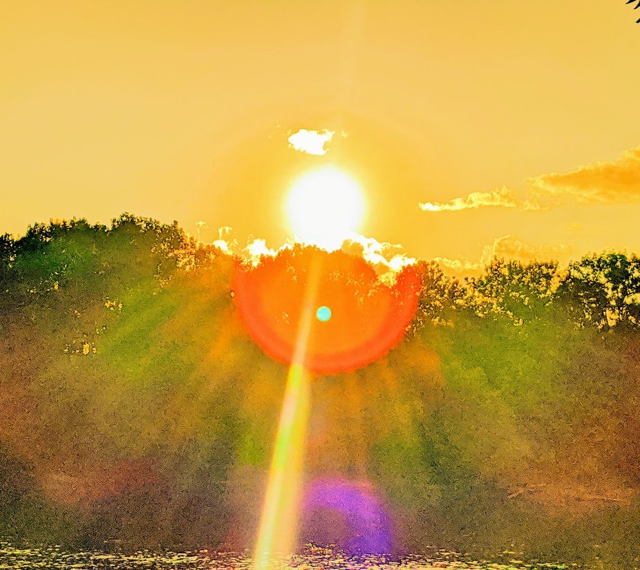 Usually hitting the HDR option does nothing with my photos, but it brought out sunrays that weren...