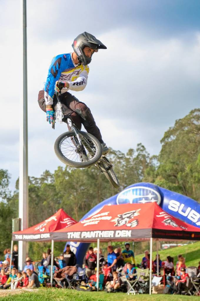 BMX racing is fsat pace with bold contrasting colors. The combination of nature, manmade objects and the rider makes it challenging to shoot.