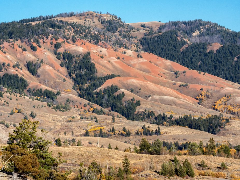 Near the Tetons are the Red Hills in Wyoming-they are stunning and worth a visit.