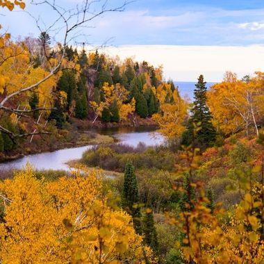 Below Gooseberry falls to Lake Superior