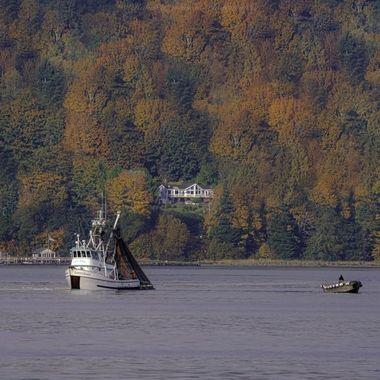 Seiner fishing boat, Hood Canal, Washington, USA