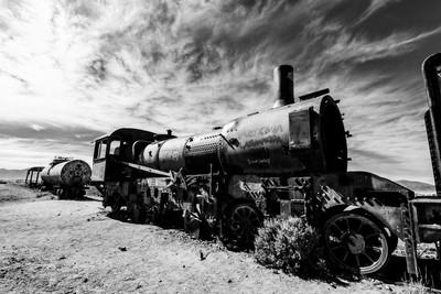 Train graveyard, Uyuni Bolivia