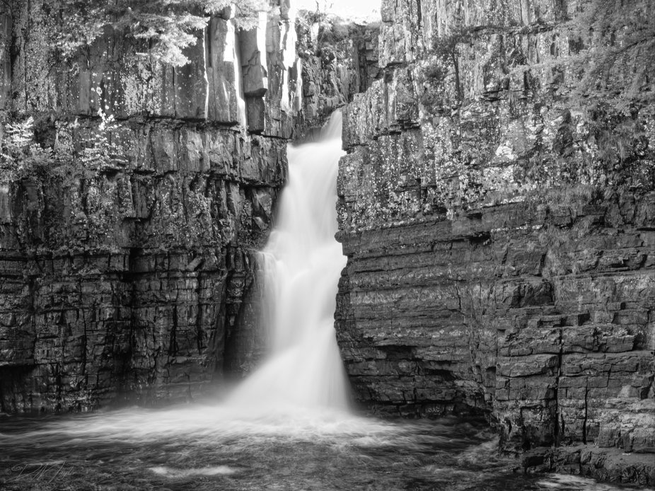 High Force waterfall near Middleton in Teesdale