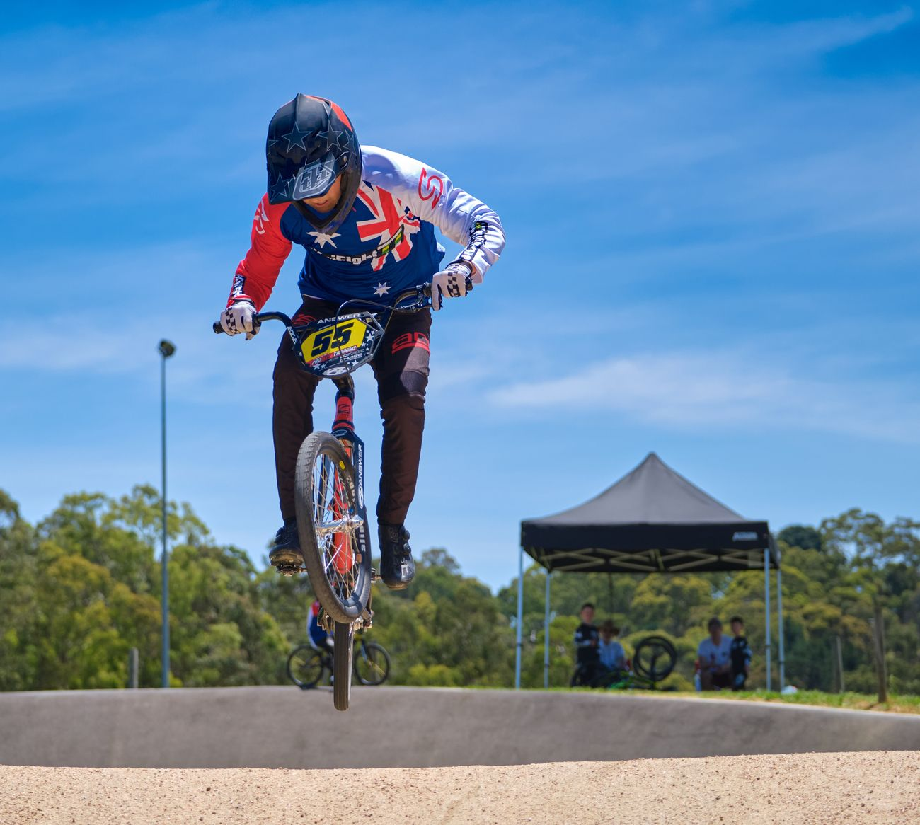 Beautiful summer day for BMX racing at Park Orchards Australia.