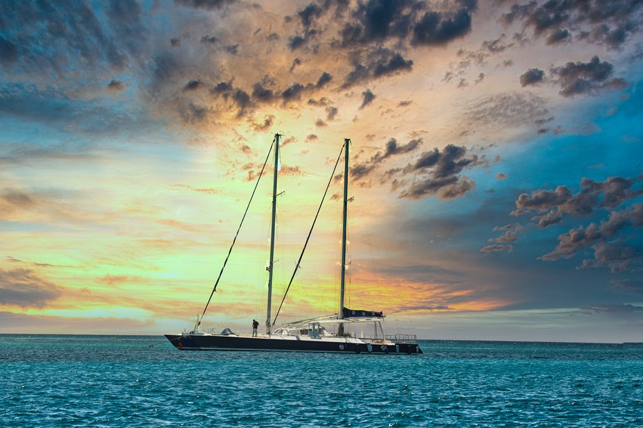 Sailing the Caribbean sea. I took this photograph we we went to the Dominican Republic.