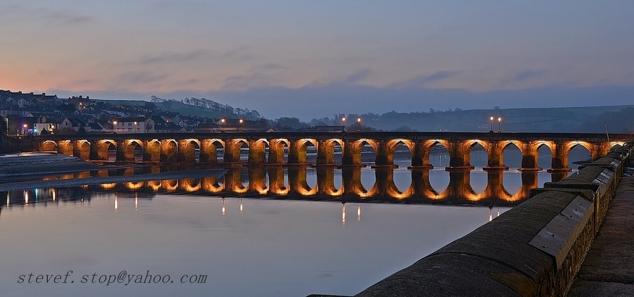 the Medieval Bridge in Bideford North Devon