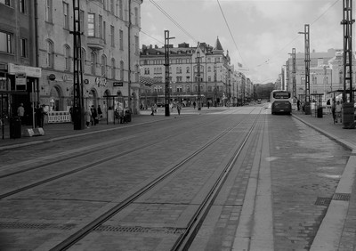 Empty center street