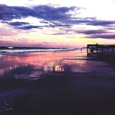 Sunset on Atlantic Beach Florida  Photo shot by my field photographer Lenore S