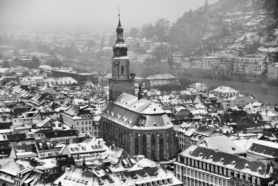 Heildelberg in the winter.