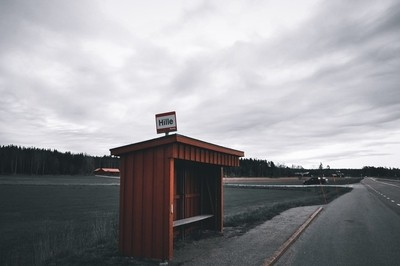 Country side bus stop