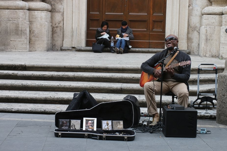 The street singer at Rome.