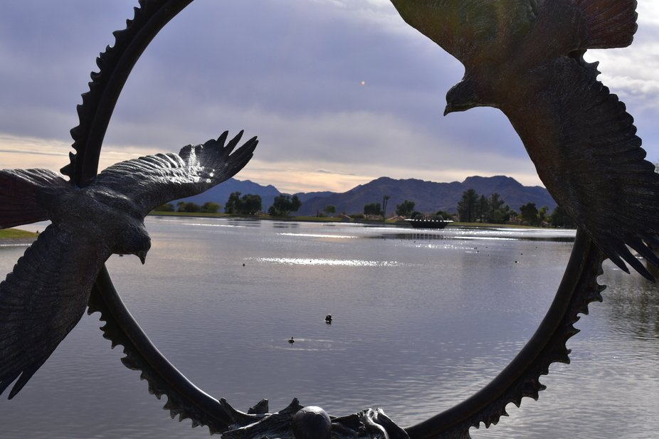 This is a frame at Fountain Hills park.