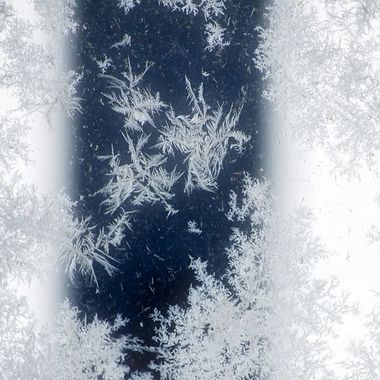 Frost on a glass table.