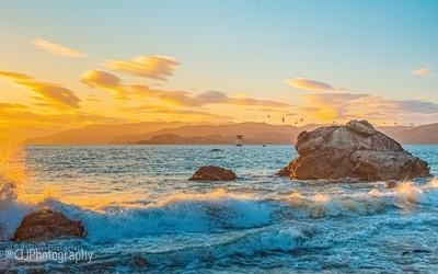 Sunset at Baker Beach SF