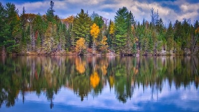 Fall on the AuSable River in Michigan