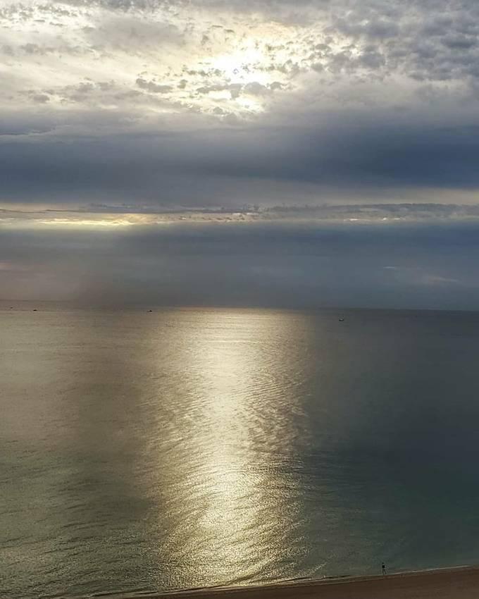 liquid gold ocean, dawns first light