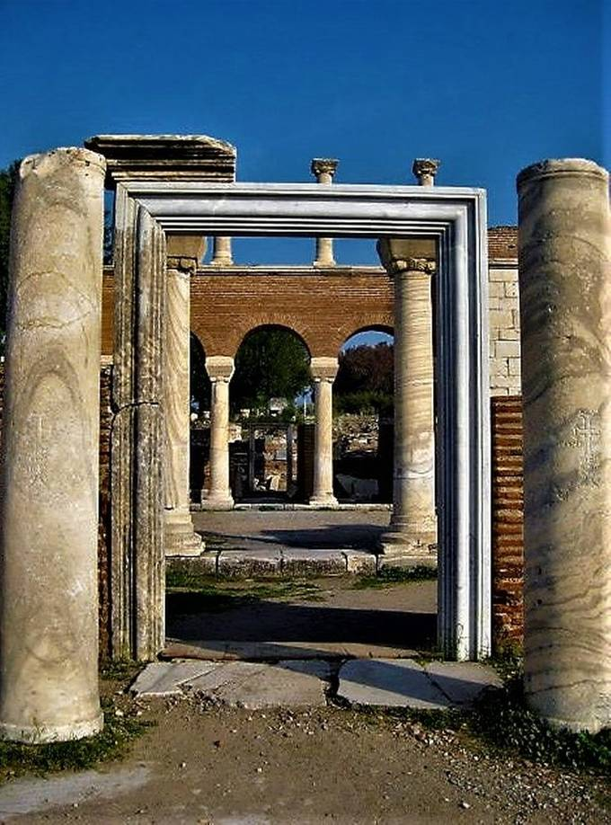 Walls and doorways at the St. John's Basilica, Ephesus