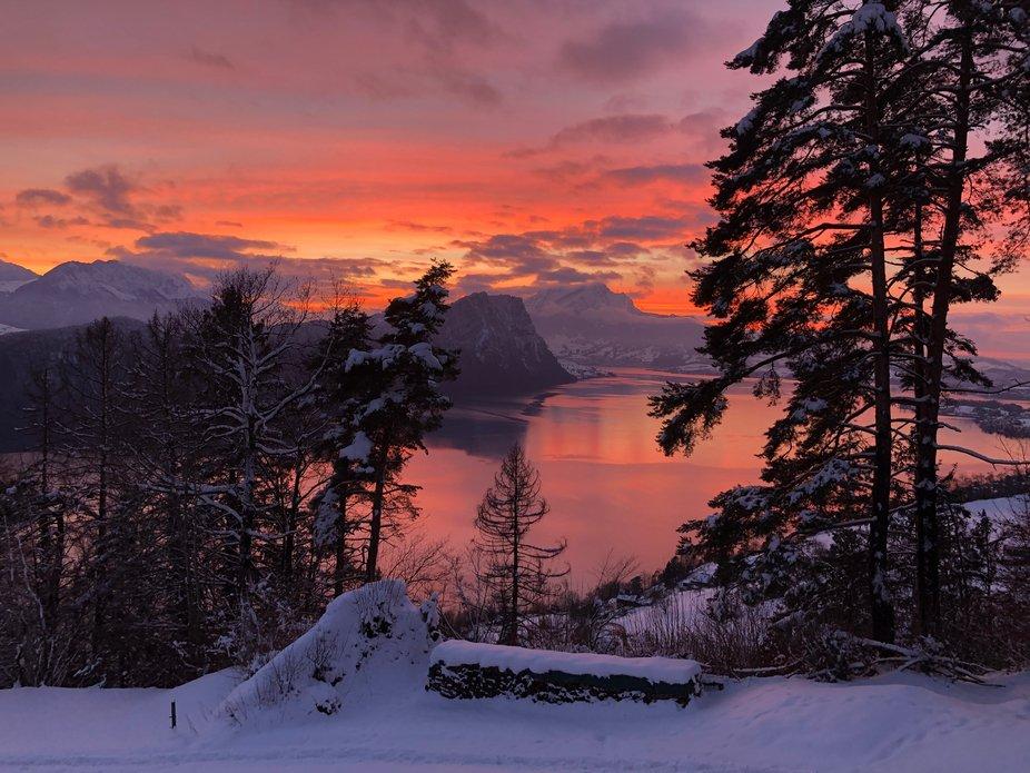 Mid January sunset