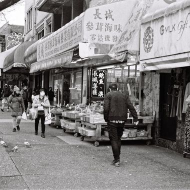 Some street action outside chinatown markets