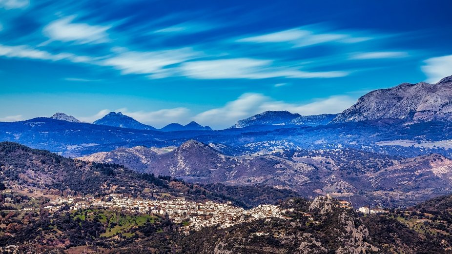 Gaucin and mountains of Andalusia , Spain