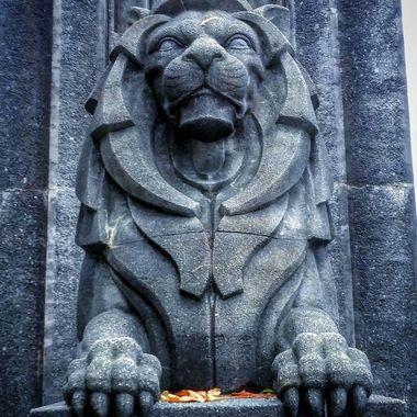 Lions Gate Lion up close
