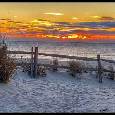 Cold sunrise 1/23 on the Jersey shore