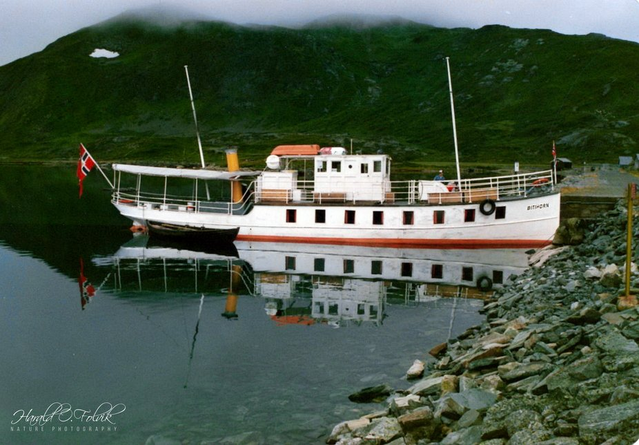 The boat serving the lake Bygdin, 1050m above sea level, in Jotunheimen National Park, Norway
