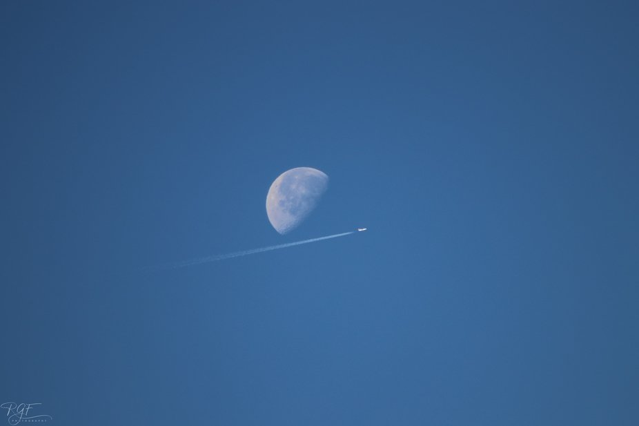 My eye had been in the view finder for a minute already taking pictures of the moon, so I never s...